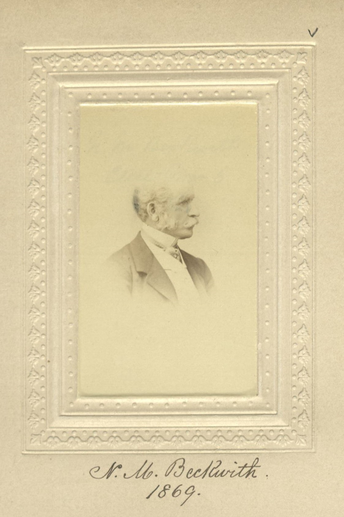 Member portrait of N. M. Beckwith