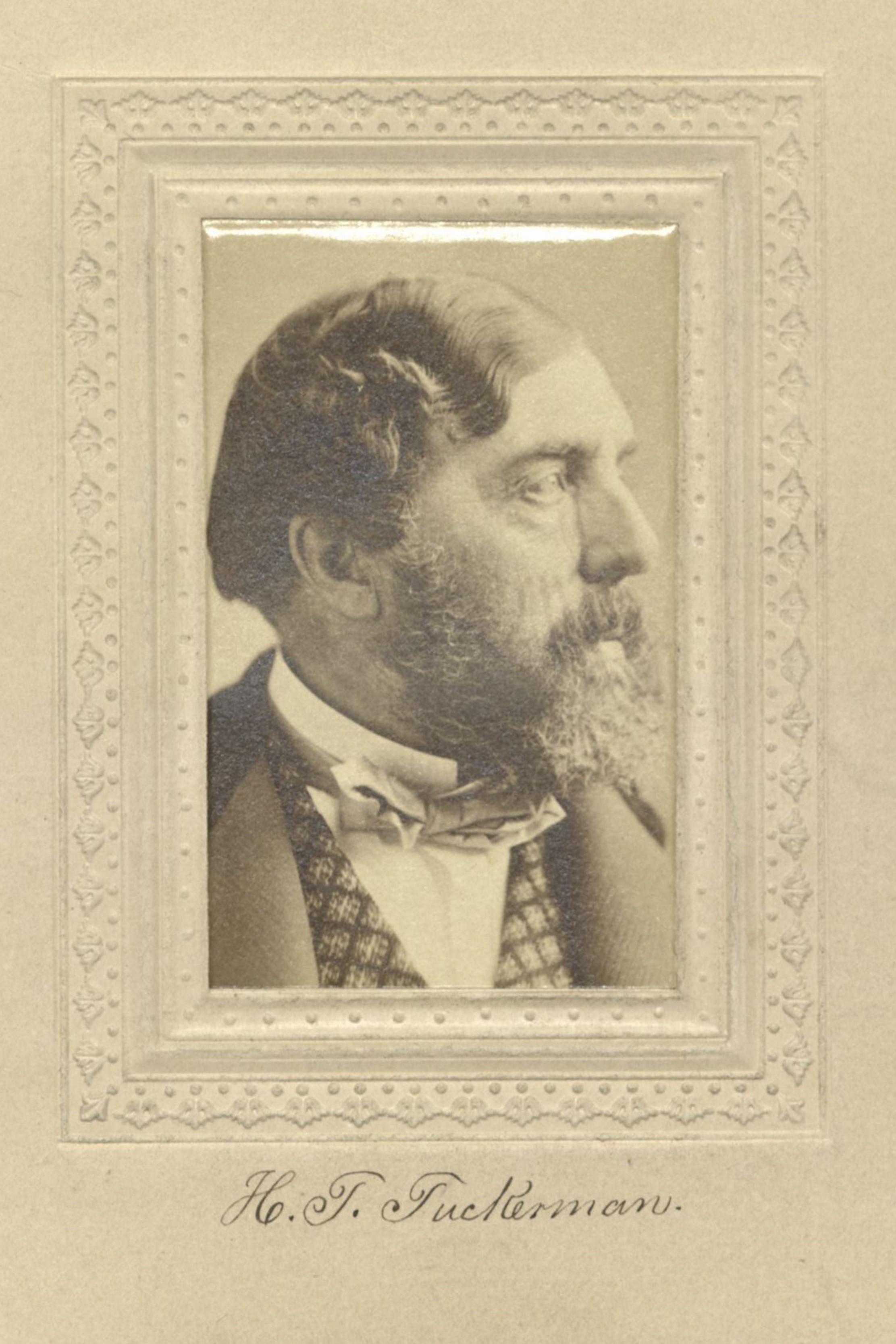 Member portrait of H. T. Tuckerman