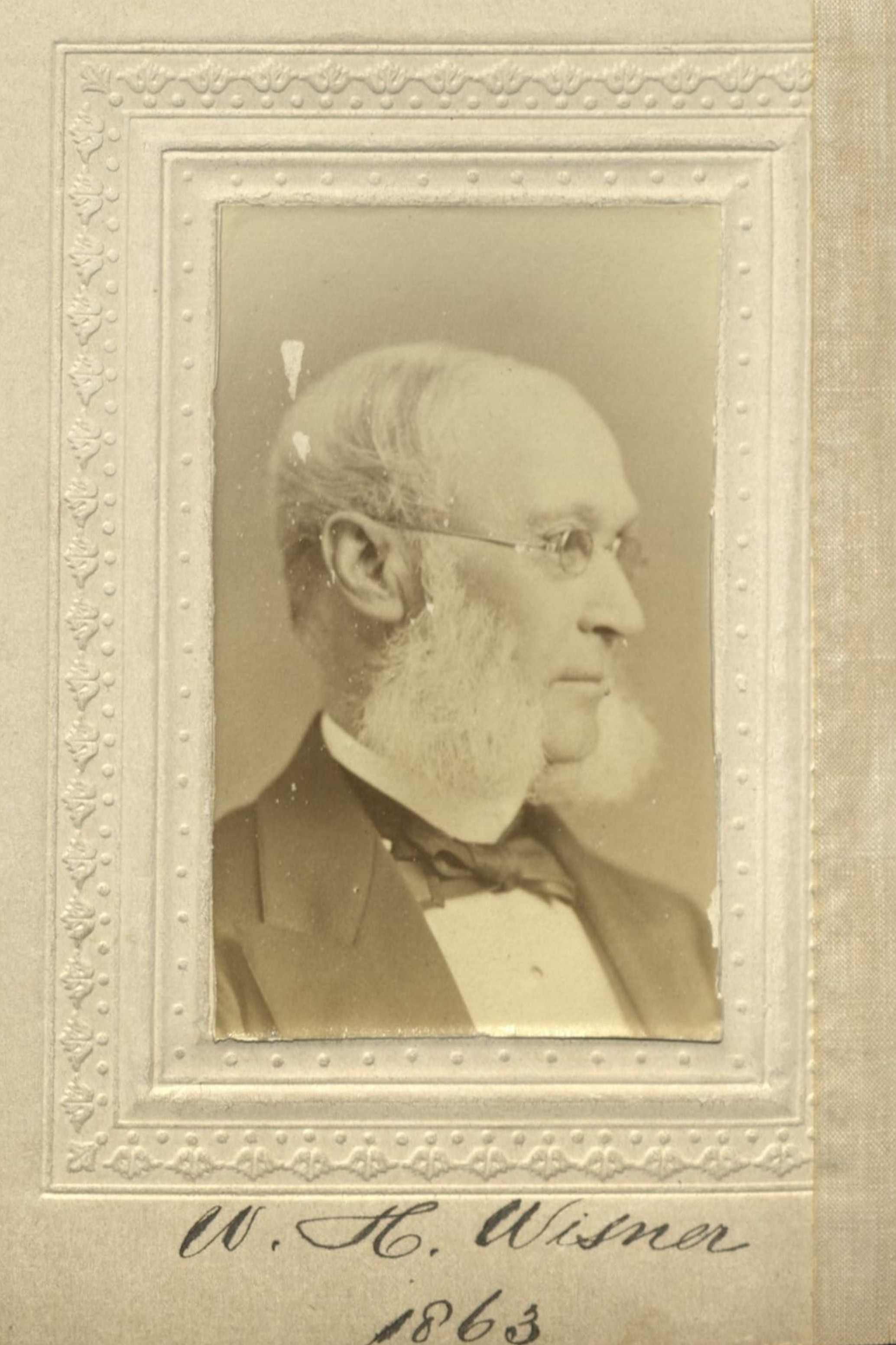 Member portrait of William H. Wisner