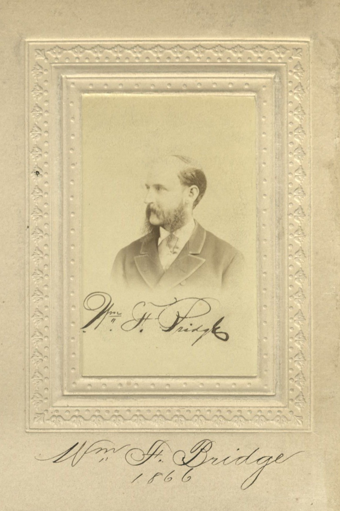 Member portrait of William F. Bridge