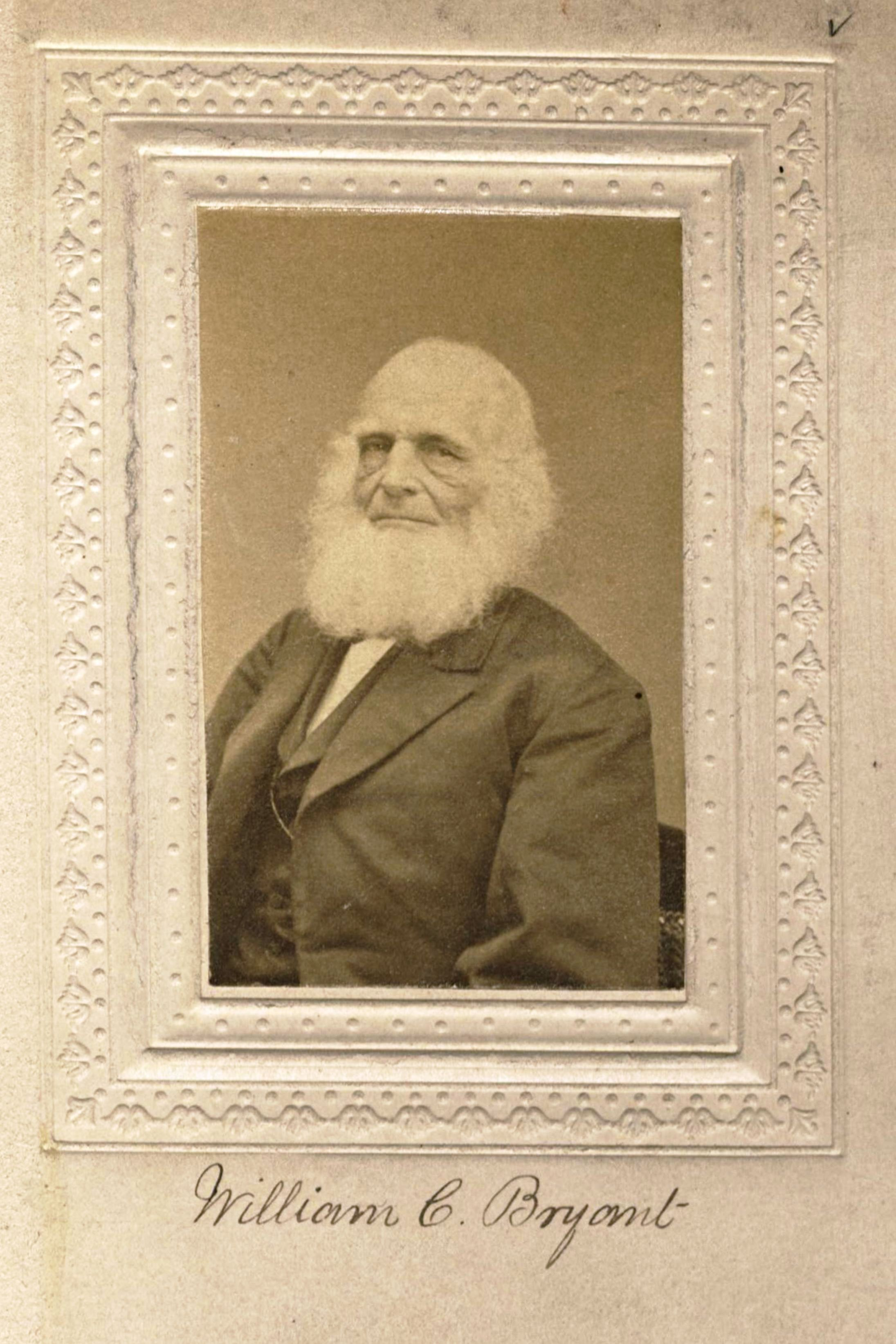 Member portrait of William Cullen Bryant